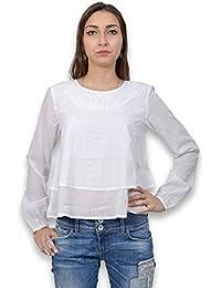 Tiffosi–Blusa Mujer Manga Larga–Bata mujer uni de color blanca