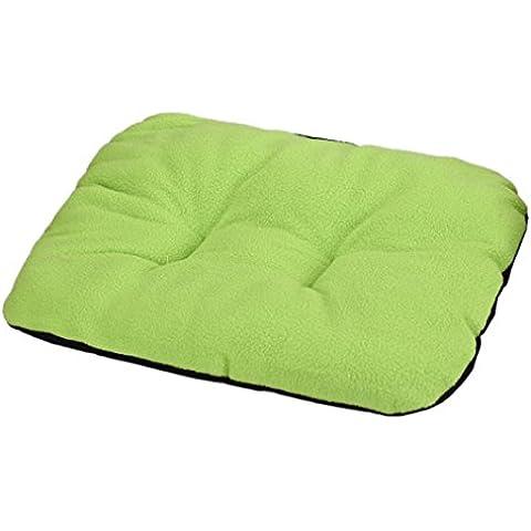 Cuccia per cane, Culater Cane letto per gatti Morbido Mat sonno caldo (31*37cm, verde) - Ovale Mat
