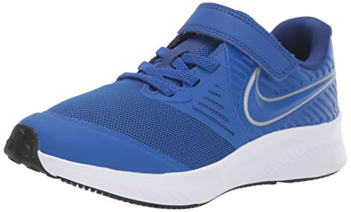 Nike Unisex-Kinder Star Runner 2 (PSV) Sneaker, Blau (Game Royal/Metallic Silver 400), 31 EU