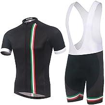 Spoz Men Short Sleeve Cycling Gel Pad Bid Jersey Set