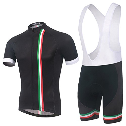Spoz Men Short Sleeve Cycling Gel Pad Bid Jersey Set L