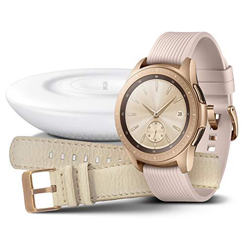 Samsung Galaxy Watch 42mm Bundle, rose gold + Charger und...