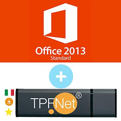 MS Office 2013 Standard 32 bit & 64 bit - Licenza Originale con una Chiavetta USB di TPFNet
