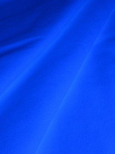 1lfm Schwarzlicht Stoff Bühnen-Molton Weißblau