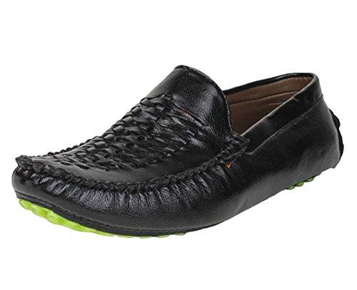 Digni Mocassins Party Chaussures Porter Casual Faux cuir Hommes Conduite Slipper Noir