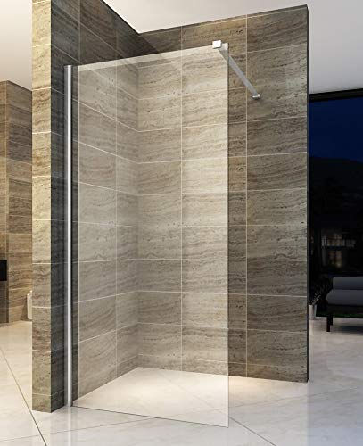 120x200cm Walk In Dusche Begehbare Duschwand Glas Duschabtrennung Duschtrennwand Glastrennwand Glaswand mit NANO-Beschichtung
