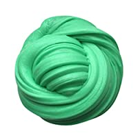 HUHU833 Cotton Mud, Kids Fluffy Floam Slime Putty Durtend 60ml Scented Stress Relief Kids Clay Toy (Green)
