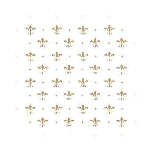 TODO-STENCIL Schablonen zur Herstellung von Dekorationen und Hintergründen, 087, Lis Dots Größe der Schablone: 20 x 20 cm. Designgröße: 17 x 17 cm. Lis-cookie