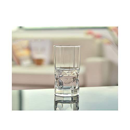 Neuheit Coole Weingläser Biergläser Glasbecher Teesaft Gläser Milchbecher Frühstücksbar Achteckglas im Freien 2er-Set, klar , Hoch 320ML