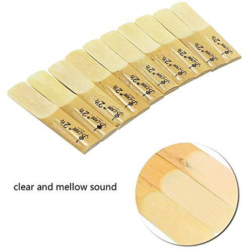 Volwco Blätter für Klarinette 2,5, natürliches Bambus, traditionelle Bb-Klarinette, Stärke 2-1/2, Profession Klarinette Mundstück Teile mit Kunststoffkoffer -