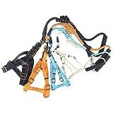 JINHONGH Nylon Reflektierende Silk Chest Rücken Traktionsseil Dog Chest Strap Heimtierbedarf (Farbe : Orange, Size : L)