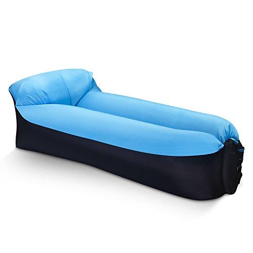 Eoocoo divano gonfiabile portatile,air sofa divano ad aria esterna per il campeggio, parco, spiaggia, cortile, pesca, nuoto
