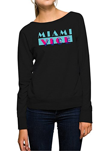 Miami Vice Logo Sweater Girls Black Certified Freak-M