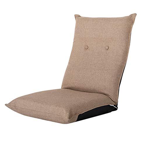 LRSFM Faule Couch Einzelne verstellbare Tatami Bett Schlafzimmer Bucht Fenster Stuhl Freizeit Computer Stuhl 105 * 46 * 12cm blau (Farbe : Khaki)