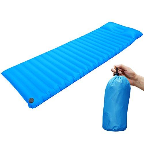 Aufblasbar Sleeping Pad,Camping Aufblasbare Luftmatratze Ultra-Kompakt für Backpacking, Camping, Reisen-Blau
