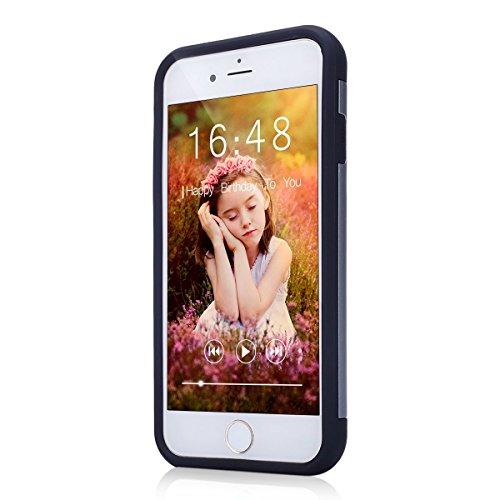 2017 Ekakashop iphone 7 4.7 pollici Custodia, 2-in-1 ultra sottile-Fit molle flessibile di caso Cover posteriore per iphone 7, Ragazza Ragazzo Crystal Clear Soft Cover gel TPU Silicone Protezione Sott A #3
