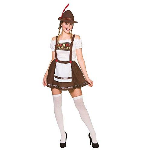 Erwachsene Damen bayerischen Oktoberfest Bier Maid Fancy Dress Kostüm (XS - - Oktoberfest Fancy Dress Kostüm