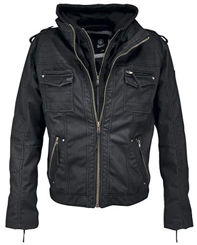 Brandit Black Rock Kunstlederjacke schwarz XL