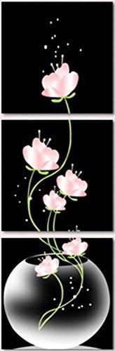 obella New Top Art Wand Leinwand Drucke 3Stück || Schönes Rosa Blumen || modernes Poster Öl Gemälde Prints und Bilder Foto Bild Wall Art Prints auf Leinwand painting für Home (Retro Kit Rapper)