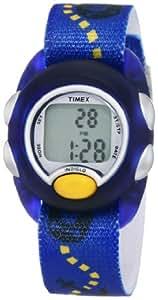 Timex - T7B8894E - Timex Kids - Montre Enfant - Quartz Digital - Cadran Argent - Bracelet Tissu Bleu
