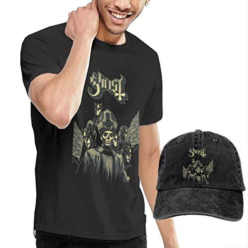 Knitkee Ghost Bc Herren Komfortabel T-Shirt and Mützen Kombination Black XL (Ghost Bc Kein Kostüm)