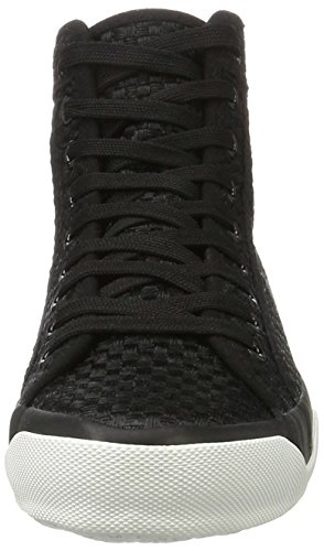 Tamaris Damen 25204 High-Top Schwarz (BLACK WOVEN 066)