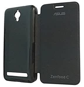 RKMOBILES Flip Cover Case for Asus Zenfone C - Black (New Model Premium Quality)