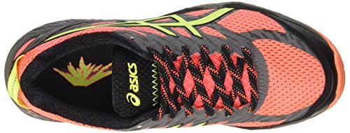 Asics GEL-FUJITRABUCO 5, Scarpe trail-running donna Arancione (Flash Coral/Safety Yellow/Black)