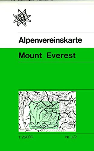 Mount Everest: Trekkingkarte 1:25000 (Alpenvereinskarten)