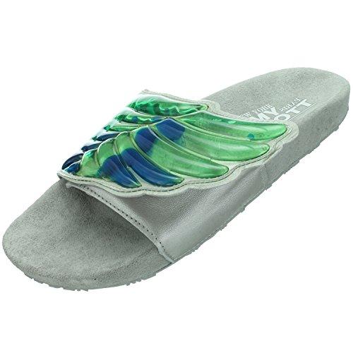 Adidas JS Gel Wings Adilette D65983 Unisex - Erwachsene Badelatschen / Pantoffeln / Slipper Grau 40,5