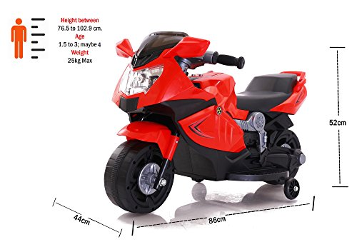 Toyhouse Mini Ninja Superbike Rechargeable battery operated Ride-on for kids(1.5 to 3yrs), Red