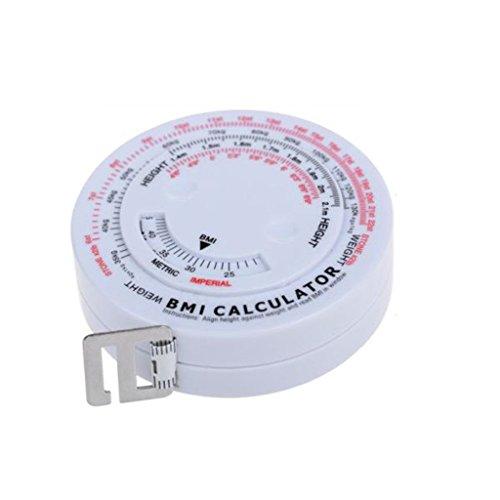 Body-mass-index Bmi-rechner (MagiDeal Body-Mass-Index-Rechner Band & Versenkbare Maßnahme Diät Gewichtsverlust Runde)