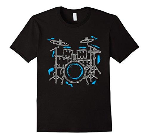 mens-cool-hand-drawn-drummer-set-t-shirt-band-tee-large-black