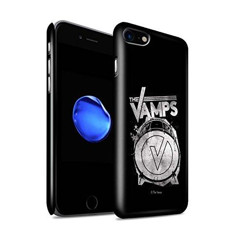 Offiziell The Vamps Hülle / Glanz Snap-On Case für Apple iPhone 7 / Blau V Muster / The Vamps Graffiti Band Logo Kollektion Bassdrum