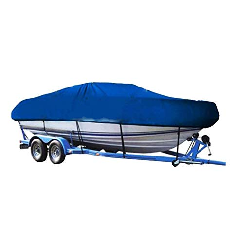YINUO Kältebeständige wasserdichte Oxford-Tuch-Yacht-Sport-Schnellboot-Schlauchboot-Fischerboot-Abdeckung Universalboot-Abdeckung UVschutzanhänger-Abdeckung Blau (Size : 11-13ft/420 x 270CM)