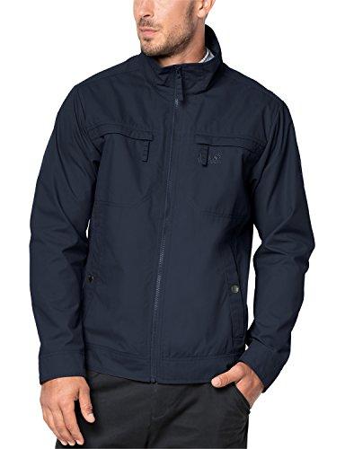 Jack Wolfskin Herren Freizeitjacke Camio Road Jacket, Night Blue, XXL, 1304441-1010006 - Bio-baumwolle Cami