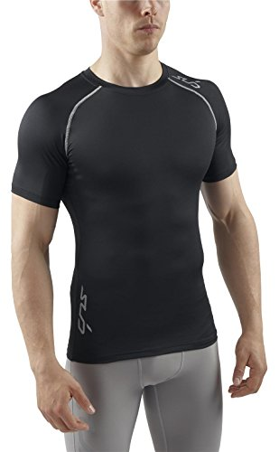Sub Sports Men's Heat Stay Cool Semi Compression Short Sleeve Base Layer