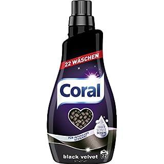 Coral Feinwaschmittel Black Velvet flüssig 44 WL, 2er Pack (2 x 22 WL)