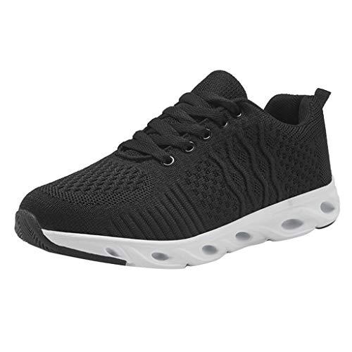 01761a475402e9 Bluestercool Chaussures de Sport Femme Casual Sneaker Respirant Chaussures  de Running Antidérapant Baskets Mode Shoes pour