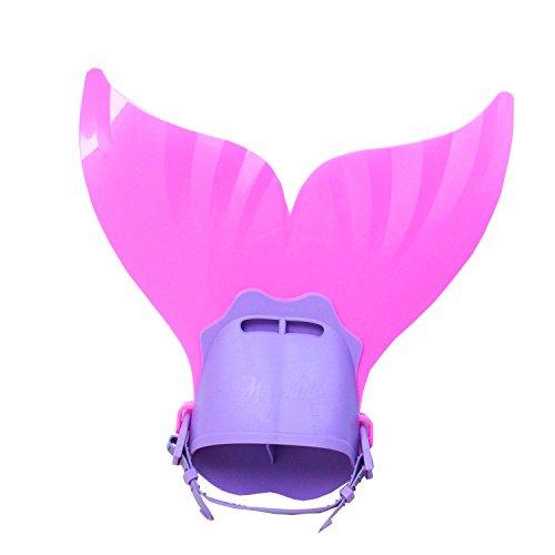 Bär Kostüm Mädchen - Doodle Bär Meerjungfrauenflosse zum Schwimmen Kinder Kostüm Meerjungfrauenschwanz für Mädchen (Pink,Eine Größe)