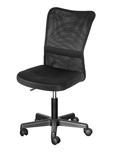 Life Carver Mesh High Back Executive Adjustable Swivel Office Chair Lumbar Support Computer Desk Chair (Black)