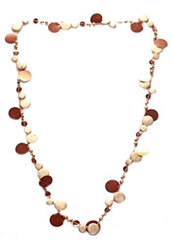 FreshFunkyFashion Sheba-Halskette, Goldmünzen-ähnliches Design, mit Bronze-Platten (ZX54)