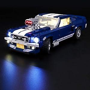 LIGHTAILING Set di Luci per (Creator Expert Ford Mustang) Modello da Costruire - Kit Luce LED Compatibile con Lego 10265… 11 spesavip