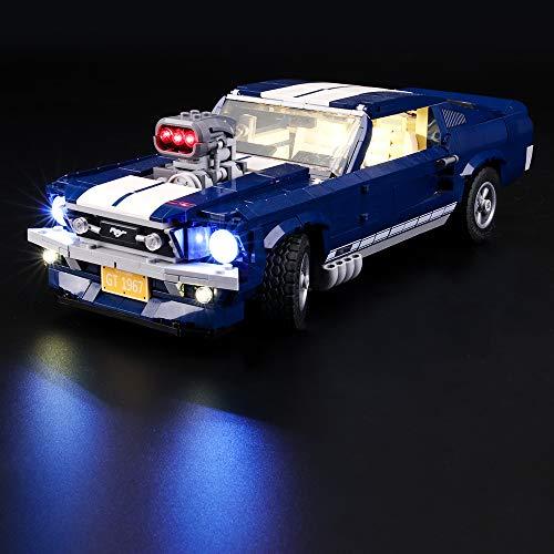 LIGHTAILING Conjunto de Luces (Creator Expert Ford Mustang) Modelo de Construcción de Bloques - Kit de luz LED Compatible con Lego 10265 (NO Incluido en el Modelo)