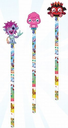 Image of Moshi Monsters Fun Park Pencil & Topper - Various Designs