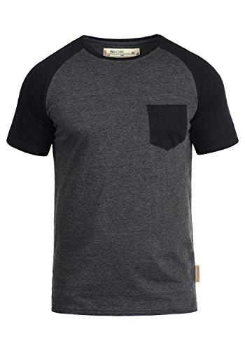 INDICODE Gresham T-Shirt, Größe:M;Farbe:Charcoal - Black (9994)