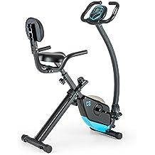 Capital Sports Trajector Bicicleta estática ergómetro plegable (Volante de 1,4 Kg, 8