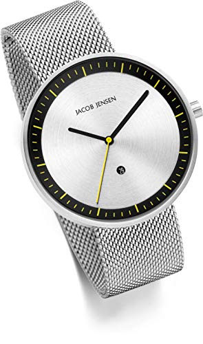 Jacob Jensen Herren Analog Quarz Uhr mit Edelstahl Armband JJ277