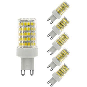 MENTA G9 bombilla LED 10W, equivalente a 80W, 800LM, Blanco Frío 6000K, No Regulable, AC220-240V, LED Candelabra Bombilla, 5 Unidades