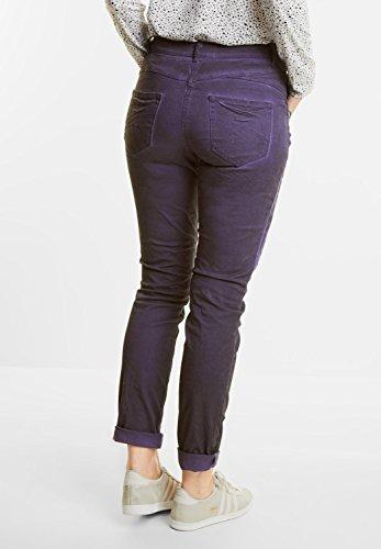 CECIL Damen Oilwash Hose New York dark purple (lila)